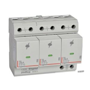 Parafoudre protection instal. de risque très élevé T1 + T2 Iimp 25kA/pôle - 3P - 6 modules LEGRAND