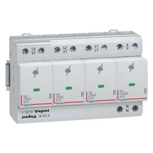 Parafoudre protection instal. de risque très élevé T1 + T2 Iimp 25kA/pôle - 3P+N - 8 modules LEGRAND