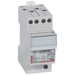 Parafoudre tableau de distribution protection intégrée T2 Imax 12kA/pôle - 1P+N - 2 modules LEGRAND