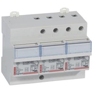 Parafoudre tableau de distribution protection intégrée T2 Imax 12kA/pôle - 3P+N - 6 modules LEGRAND