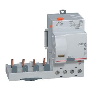 Bloc différentiel adaptable automatique DX³ pour disj 1 module/pôle - 4P 400V~ - 63A - typeAC 300mA LEGRAND