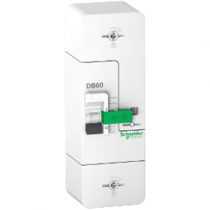 Disjoncteur de branchement Resi9 DB60 - 1P+N - 60A fixe - 500mA - diff inst. SCHNEIDER
