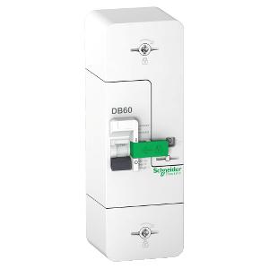 Resi9 DB60 - Disjoncteur Branchement - 1P+N - 60A fixe - 500mA - diff inst. SCHNEIDER