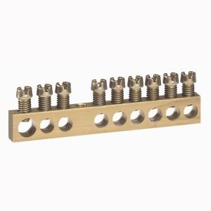 Bornier de répartition nu à visser - 1 connexion 6mm² à 25mm² - L.73mm LEGRAND