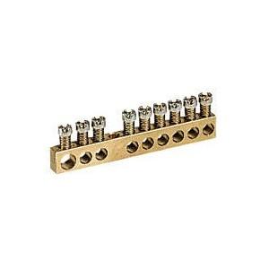 Bornier de répartition nu à visser - 1 connexion 6mm² à 25mm² - L.122mm LEGRAND