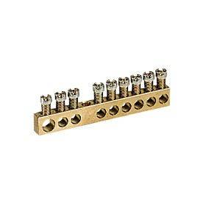 Bornier de répartition nu à visser - 1 connexion 6mm² à 25mm² - L.157mm LEGRAND