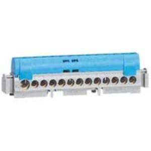 Bornier de répartition isolé IP2X neutre - 1 connexion 6mm² à 25mm² - bleu - L.176mm LEGRAND