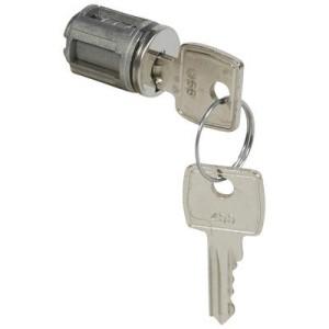 Barillet à clé type 1242E - pour porte métal ou vitrée XL³ - 1 jeu de 2 clés LEGRAND
