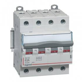 Interrupteur-sectionneur DX³-IS 4P 400V~ - 63A - 4 modules LEGRAND