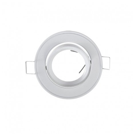 Support plafond rond inclinable blanc Ø 86MM VISION EL