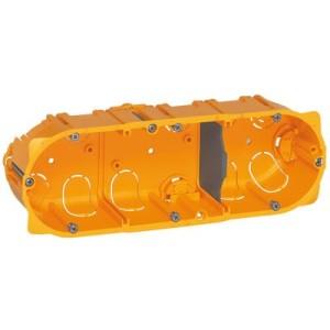 Boîte monoposte Batibox 3 postes ou 6 à 8 modules - profondeur 50mm LEGRAND