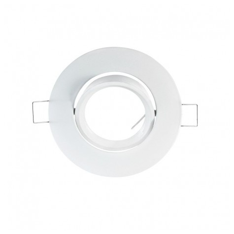 Support plafond rond orientable blanc Ø93mm VISION EL