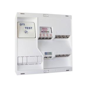 Tableau de communication NÉO - Grade 2TV 8 RJ45 DTI + filtre TV 4S MICHAUD