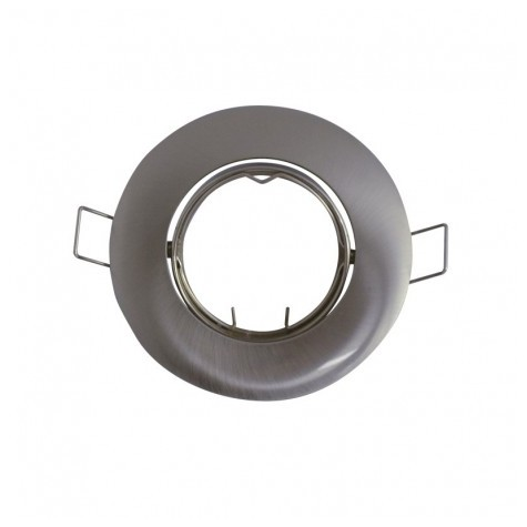 Support plafond rond inclinable argent Ø 92MM VISION EL