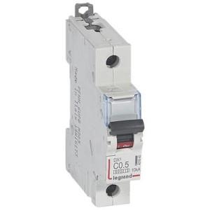 Disjoncteur DX³6000 - 1P - 0,5A - 230 à 400V~ - Courbe C - vis/vis LEGRAND