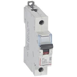 Disjoncteur DX³6000 - 1P - 25A - 230V à 400V~ - Courbe C - vis/vis LEGRAND