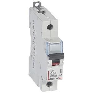 Disjoncteur DX³6000 - 1P - 40A - 230V à 400V~ - Courbe C - vis/vis LEGRAND