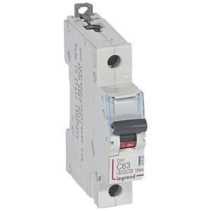 Disjoncteur DX³6000 - 1P - 63A - 230V à 400V~ - Courbe C - vis/vis LEGRAND
