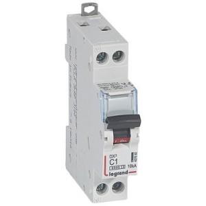 Disjoncteur DX³6000 - Uni+Neutre - 1A - 230V~ - Courbe C - vis/vis LEGRAND