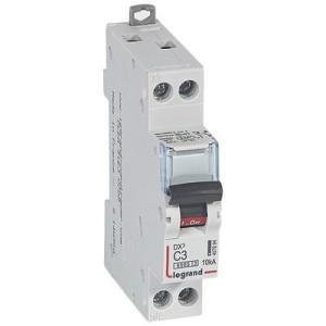Disjoncteur DX³6000 - Uni+Neutre - 3A - 230V~ - Courbe C - vis/vis LEGRAND