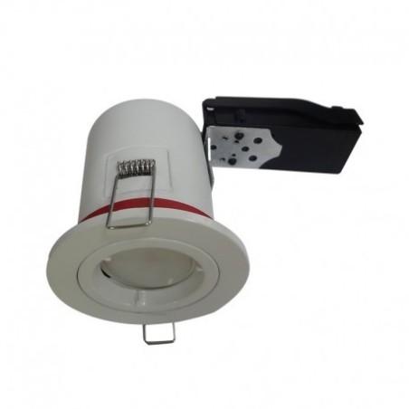 Support plafond BBC rond blanc avec douille automatique Ø88mm VISION EL
