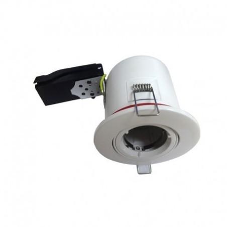 Support plafond BBC rond orientable blanc avec douille automatique Ø100mm VISION EL