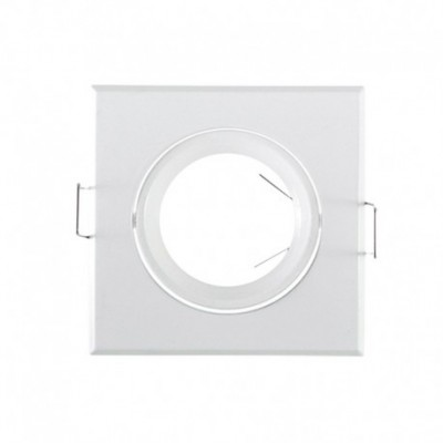 Support plafond carré inclinable blanc 84X84MM VISION EL