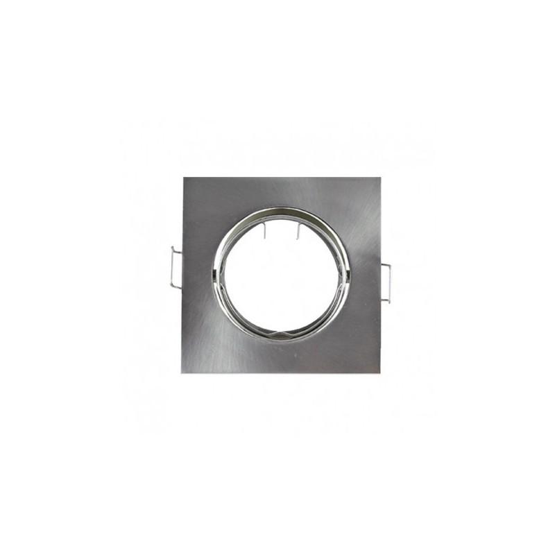 Support plafond carré orientable argent 85x85mm VISION EL