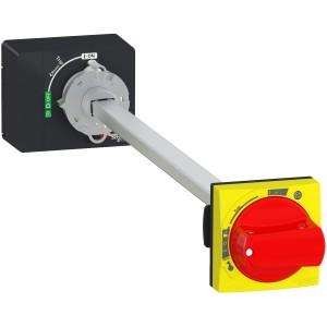 Commande rotative prolongée IP65 rouge/jaune - Compact NSXm et Powerpact B SCHNEIDER