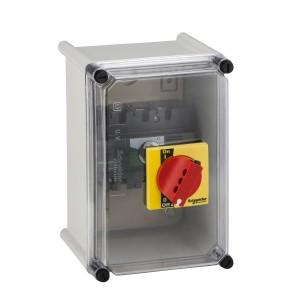 Coffret étanche pour Interpact INS40 à 160 poignée rouge plastique SCHNEIDER
