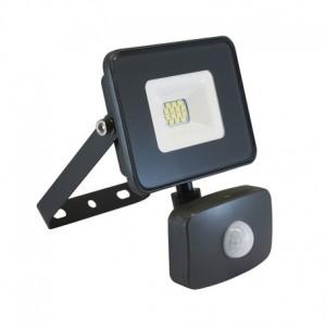 Projecteur extérieur LED 10W 4000°K + détecteur - Gris VISION EL