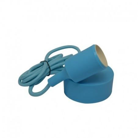 Suspension douille silicone E27 - bleu VISION EL