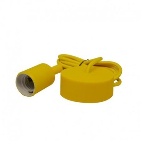 Suspension douille silicone E27 - jaune VISION EL