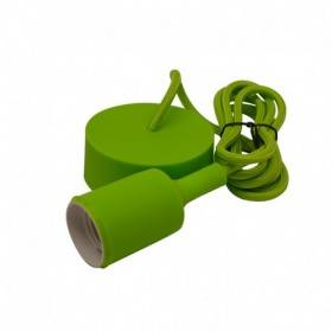 Suspension douille silicone E27 - vert VISION EL