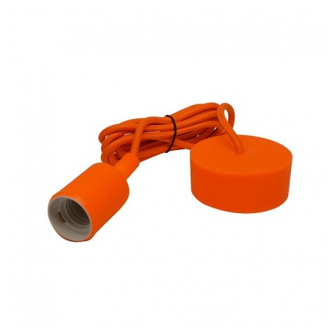 Suspension douille silicone E27 - orange VISION EL