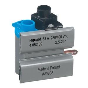 Borne de connexion pour inter. diff. 63A tête de groupe 2 modules - Kit de 10 LEGRAND