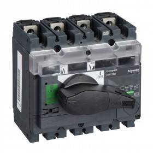 Interrupteur-sectionneur 200A 4P à coupure visible - Compact INV200 SCHNEIDER