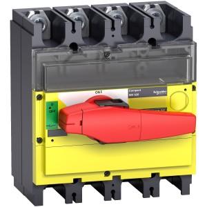 Interrupteur-sectionneur 500A 4P à coupure visible - Compact INV500 SCHNEIDER