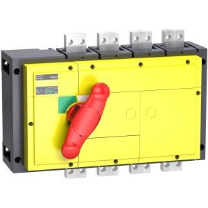 Interrupteur-sectionneur 1600 A 4P - Boitier moulé - Compact INS1600 SCHNEIDER