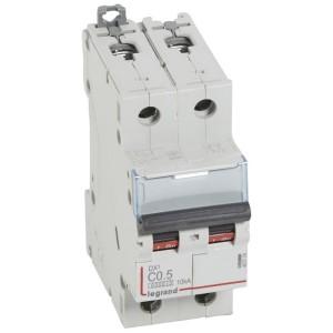 Disjoncteur DX³ 6000 - 2P - 0,5A - 230/400V~ Courbe C - vis/vis LEGRAND