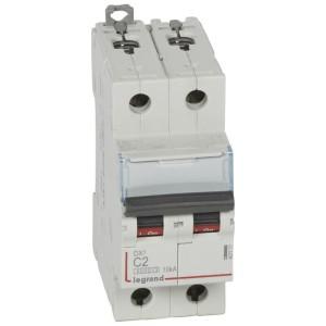 Disjoncteur DX³ 6000 - 2P - 2A - 230/400V~ Courbe C - vis/vis LEGRAND