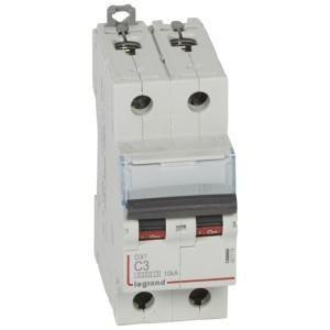 Disjoncteur DX³ 6000 - 2P - 3A - 230/400V~ Courbe C - vis/vis LEGRAND