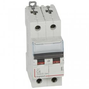 Disjoncteur DX³ 6000 - 2P - 4A - 230/400V~ Courbe C - vis/vis LEGRAND
