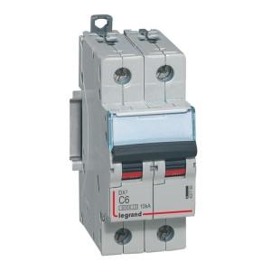 Disjoncteur DX³ 6000 - 2P - 6A - 230/400V~ Courbe C - vis/vis LEGRAND