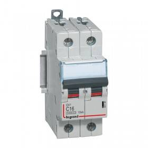 Disjoncteur DX³ 6000 - 2P - 16A - 230/400V~ Courbe C - vis/vis LEGRAND