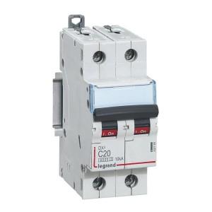 Disjoncteur DX³ 6000 - 2P - 20A - 230/400V~ Courbe C - vis/vis LEGRAND