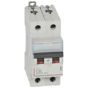 Disjoncteur DX³ 6000 - 2P - 32A - 230/400V~ Courbe C - vis/vis LEGRAND