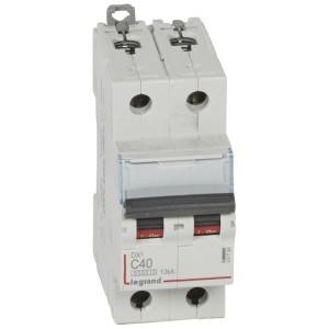 Disjoncteur DX³ 6000 - 2P - 40A - 230/400V~ Courbe C - vis/vis LEGRAND