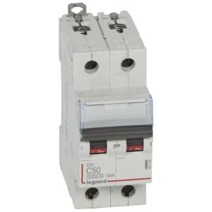 Disjoncteur DX³ 6000 - 2P - 50A - 230/400V~ Courbe C - vis/vis LEGRAND
