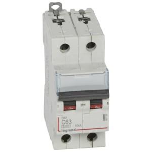 Disjoncteur DX³ 6000 - 2P - 63A - 230/400V~ Courbe C - vis/vis LEGRAND